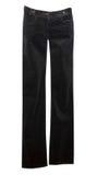 Black velvet jeans isolated on white Royalty Free Stock Photos