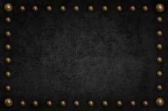 Black velvet with metal botton, use as background Stock Photography