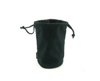 Black Velvet Pouch Royalty Free Stock Photography