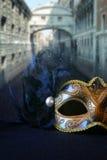 black venetian mask on glitter background Stock Photography