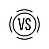 Black versus sign in circle Royalty Free Stock Image