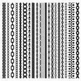 Black Vertical Chains Set Stock Image