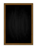 Black vertical chalkboard Royalty Free Stock Photos