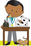 Black Vet and Pets Royalty Free Stock Images