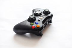 Black video game controller. A wireless black video game controller from an upper view Stock Photography