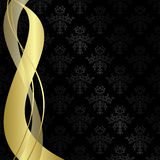 Black vintage background with ribbons - vector Stock Photography