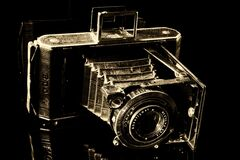 Black Vintage Camera stock photography
