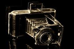 Black Vintage Camera Stock Photography
