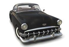 Black Vintage car 3D model. Vintage black car - Shiny old 3D model royalty free illustration