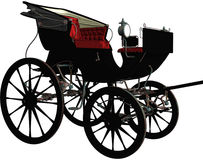 Black vintage carriage Stock Images