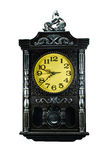 Black Vintage clock isolated Royalty Free Stock Images