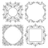 Black vintage floral frames - vector set Stock Photo