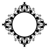 Black vintage four-pointed frame Royalty Free Stock Image