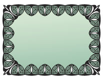 Black vintage frame. With empty space for your text Royalty Free Stock Photography