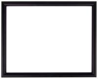 Black vintage frame isolated on white. Black frame simple design. Simple wood vintage frame isolated on white. Wood frame simple design Stock Photo