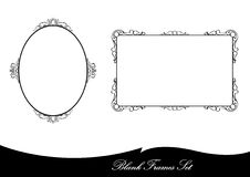 Black vintage frames. Set of two black  vintage frames Stock Photo