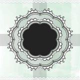 Black vintage lace border Stock Images