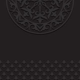 Black vintage ornament background Stock Image