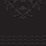 Black vintage ornament background Royalty Free Stock Images