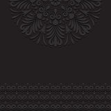 Black vintage ornament background Stock Photography