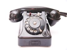 Black vintage phone royalty free stock image