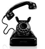 Black vintage phone, isolated Stock Image