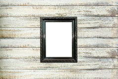 Black Vintage Picture Frame On Old Wood Background Royalty Free Stock Photos