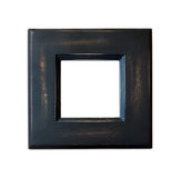Black Vintage picture frame on white background Stock Photo