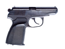 Black vintage pistol Stock Images