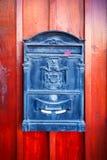 Black vintage post box Stock Photography