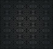 Black vintage seamless wallpaper Stock Images