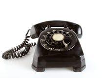 Black vintage telephone stock photography