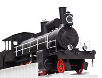 Black vintage toy train Royalty Free Stock Photography