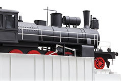 Black vintage toy train Royalty Free Stock Photos