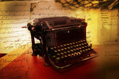 Black vintage typewriter Stock Images
