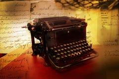 Black vintage typewriter Stock Images