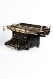 Black vintage typewriter. Vintage typewriter on white background stock image