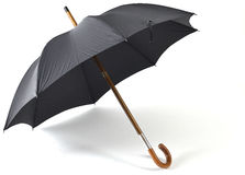 Black vintage umbrella Royalty Free Stock Photos