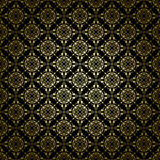 Black vintage vector pattern with radial gradient Stock Photography
