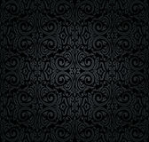 Black vintage wallpaper stock illustration