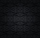 Black vintage wallpaper Royalty Free Stock Photography