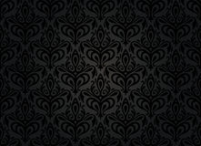 Black vintage wallpaper Royalty Free Stock Photo