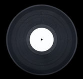 Black Vinyl on Black. Straight on shot of a vinyl record on black Stock Photography