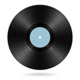 Black vinyl disc Stock Photography