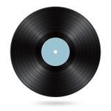 Black vinyl disc Stock Photography