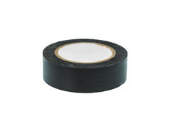 Black vinyl electrical tape Royalty Free Stock Image