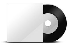 Black vinyl with papercover royalty free stock photography