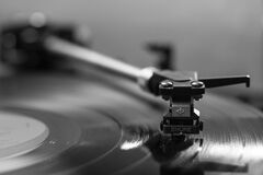 Black Vinyl Player Royalty Free Stock Photos