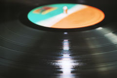 Black Vinyl Record Royalty Free Stock Images