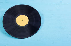 Black vinyl record Stock Photo